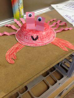 Paper bowl crab craft