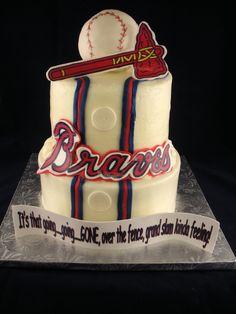 braves cake - Google Search