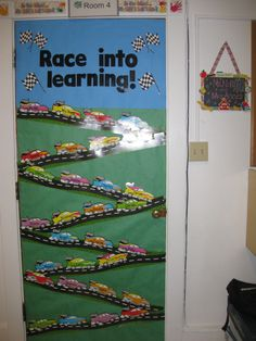 Race into learning door for beginning of the school year!