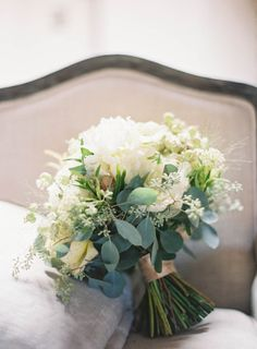 Green and Ivory Bridal Bouquet by The Little Branch | photography by http://jenhuangphoto.com/