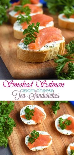 Smoked Salmon Cream Cheese Tea Sandwiches: elegant, delicious and simple treat to wow the crowd at major gatherings! | olgainthekitchen.com #olgainthekitchen #smokedsalmon #teasandwich #sandwich #canape #appetizer #salmonappetizer #breakfast