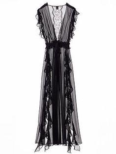 Chiffon Ruffle Robe