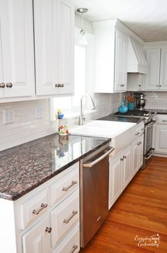 DIY White Kitchen Re