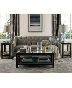 Chloe Fabric Velvet Metro Living Room Furniture Sets & Pieces - Living Room Furniture - furniture - Macys