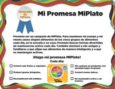 18,000+ people have taken the pledge to become a #MyPlate Champion! But, did you know you can take the pledge in #Spanish too? #MiPlato