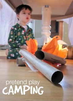not ready for a real camping trip - or want to prep your little ones for one? Pretend play camping!