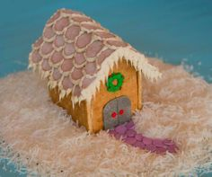 Directions of how to make graham cracker house