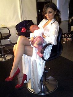 Possibly the most glamorous breastfeeding photo ever?
