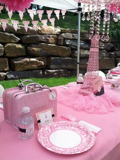 Paris Birthday Party- just in case she loves it as much as Mommy