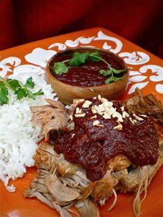 carne de Puerco en mole negro / roast pork in Mole