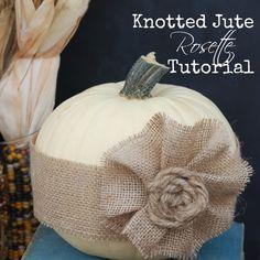 Easy Knotted Jute Rosette Tutorial | Endlessly Inspired