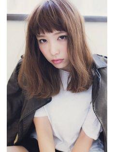 出典:http//s,media,cache,ak0.pinimg.com. ロングヘアの前髪ありは可愛い