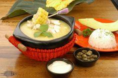 AJIACO SANTAFEREÑO, como preparar esta receta típica de la gastronomía de Cartagena de Indias.  www.cartagenadeindiaslive.com