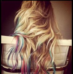 Subtle color for hair tips.