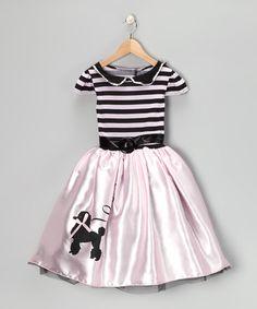 Look at this #zulilyfind! Pink Poodle Dress - Girls #zulilyfinds