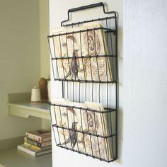 Metal Basket Office Wall Storage