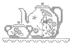 Vintage Embroidery Transfer repo 1571 Stunning Orential designs for Tea Towels