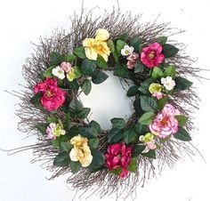 Southern Elegance All Weather Door Wreath