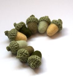 Woodland Weddings 8 moss green  pale green  olive by astashtoys, $16.00