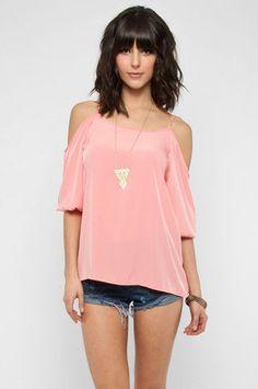 Bear Arms Top in Pink $28 at www.tobi.com
