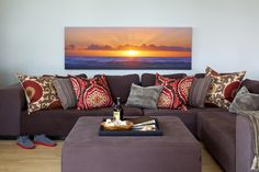 Panorama // Did you capture a beautiful sunset at the cottage this summer? Pump  your room full of color with a canvas print. // www.canvaspop.com