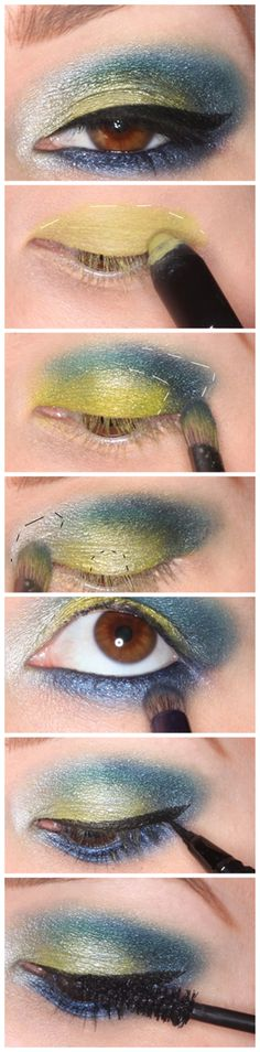 How To: Colorful smokey eyes