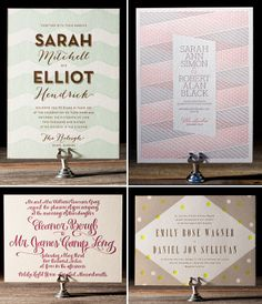 Letterpress Invites from Bella Figura