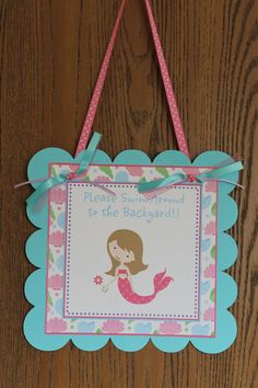 Sweet Mermaid Birthday Personalized Door by ExpressionsPaperie, $10.00