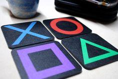 Playstation Coaster by Rakunsell on Etsy, $14.50