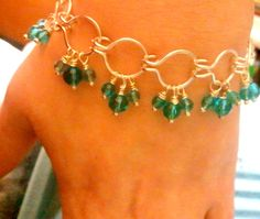 Blue Crystal Bracelet by T and D Designs on Etsy, $15.00