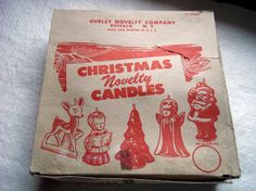 Vintage Gurley Novelty Company Box for Christmas Novelty Candle Stick