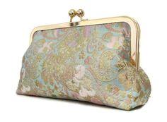 BRIDAL CLUTCH PURSE Beautiful brocade fabric by cutiegirlie, $40.00