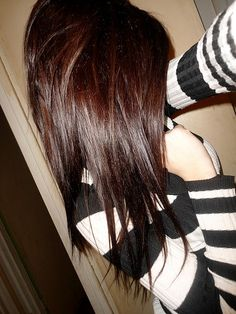 #brown #dyed #scene #hair #pretty