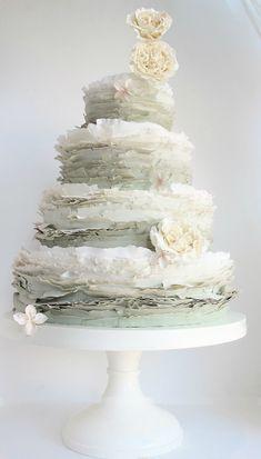 Very pretty ombre wedding cake | Maggie Austin Cake