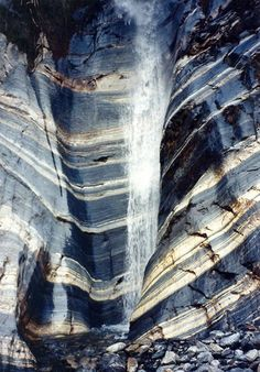 Blue & White - Stripes in Nature - Gorgeous Rock Formation