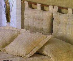 Respaldo de cama con almohadones en iManualidades.com: manualidades y bricolage respaldos cama, respaldos de camas, respaldo de cama, respaldo cama