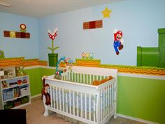 Well, I know what my (future) baby's nursery will look like! Sub in Princess Peach if a girl :)