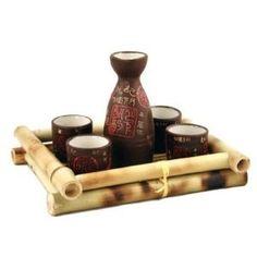 Glazed Ceramic Japanese Sake Set