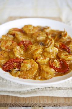 Spicy Shrimp Curry with Roasted Tomatoes