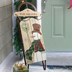 Personalized Sled would look so cute for my front porch!
