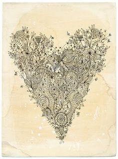 Doodling heart