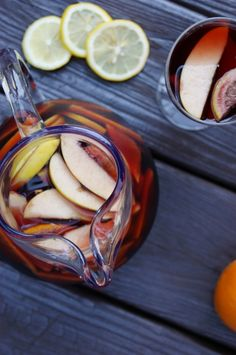 Sangria! ... just perfect for Cinco de Mayo or summer sippin'.    www.thekitchenismyplayground.com
