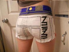 These Custom-Made R2D2 Shorts by 'Productiveslacker'