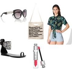 """Jeweled Sandals"" by thefashionpoet on Polyvore #dswshoehookup #pintowin"