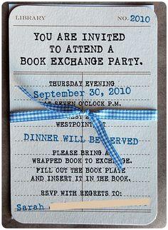 Book Swap Party Invite