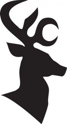 Reindeer outline festive pinterest