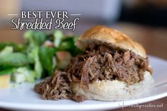 If you are looking for a new crock pot meal for your family, you've got to try this shredded beef recipe made with giardiniera. Yum!!!
