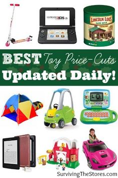 This list is updated daily with all of the BEST price cuts for toys on Amazon!  Check it before you buy any Christmas or holiday presents so that you can get the best price possible!