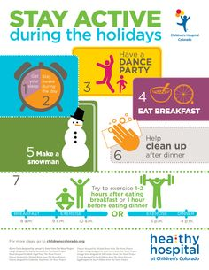 Check out these six tips for staying active during the holiday season!