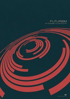 Futurism poster. Swiss style + depth.